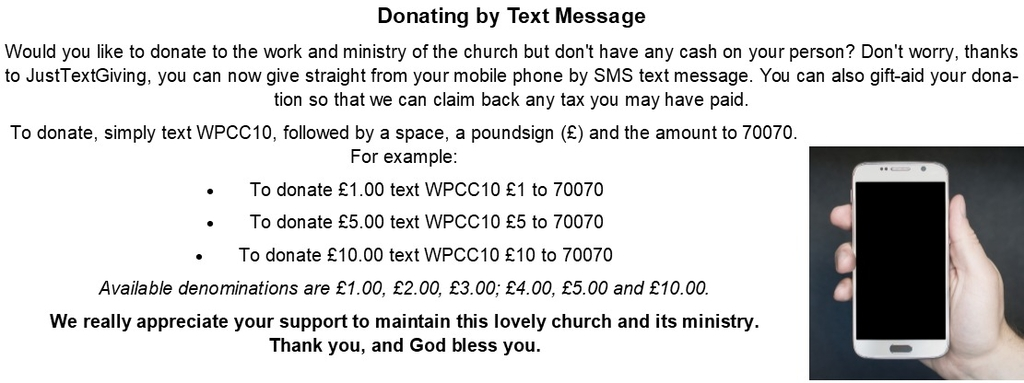Donating by Text Message